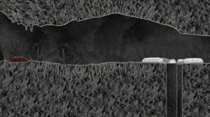 30_Long_view_of_lava_tube_with_tractor_half_cylinder_bases_and_hole